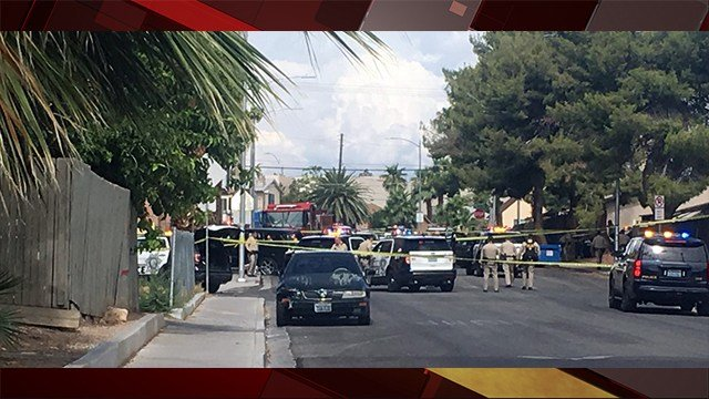 Officer-involved shooting reported near Bruce St. and Fremont St. July 11, 2018 (Photo: Alyssa Deitsch/ FOX5)