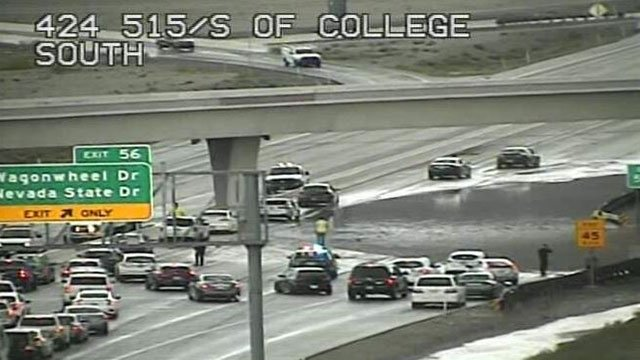NHP shutdown southbound I-515 at College Drive due to flooding (LVACS).