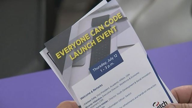 A flyer for the announcement of the new Swift coding course (FOX5).
