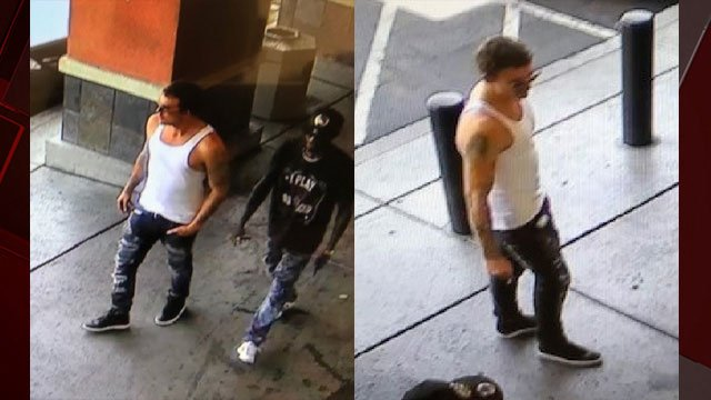 Las Vegas police said two men robbed a business in Silverado Ranch on July 16, 2018. (Source: LVMPD)