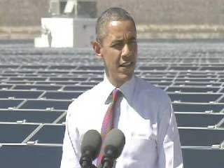President Barack Obama speaks in Boulder City