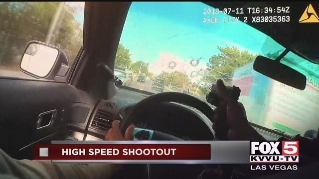 Video Shows Vegas Police Pursuit, Shootout With Suspects