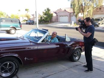 One of Larry Gareffa's prized Mustangs. (Elizabeth Watts/FOX5)