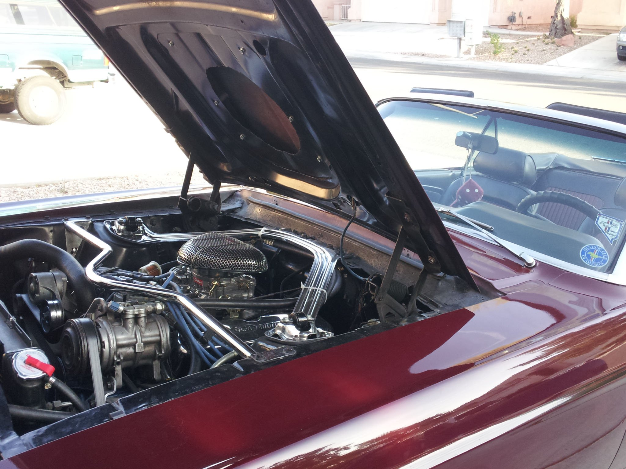 A peek under the hood. (Elizabeth Watts/FOX5)