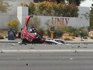 The crash occurred near Flamingo and Swenson. (Eric Youngman/FOX5)