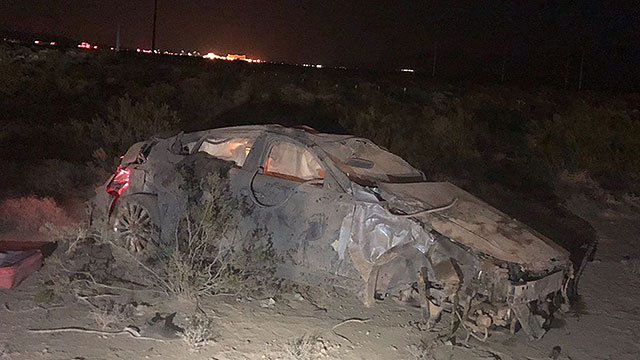 A rollover crash on Interstate-15 northbound left two people dead on July 27, 2018. (Photo: NHP)