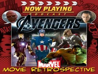 Now Playing's Avengers Movie Retrospective logo (Courtesy: Venganza Media)