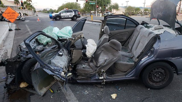 The driver of the vehicle was listed in critical condition on Aug. 8, 2018. (Source: LVMPD)