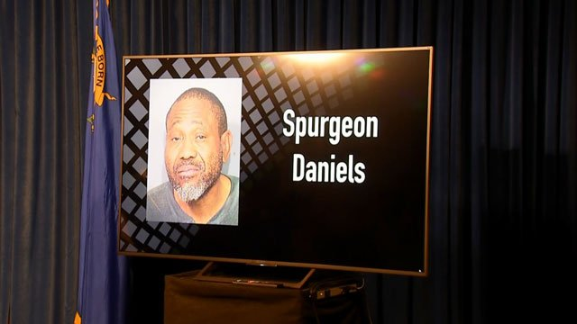 Spurgeon Daniels was identified as the suspect in an officer-involved shooting during a press conference on Aug. 9, 2018. (Adam Herbets/FOX5)