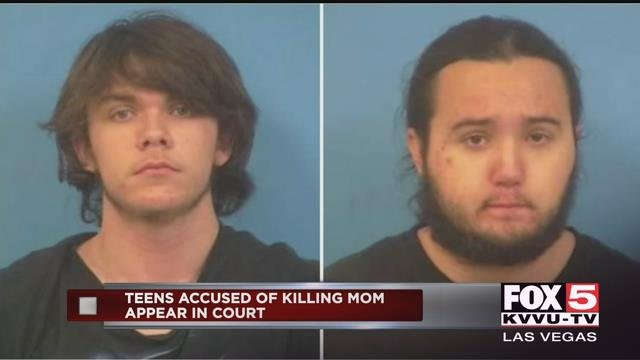 Teens Dakota Saldivar and Michael Wilson are accused of murdering their mother in Pahrump, Nevada (FOX5).