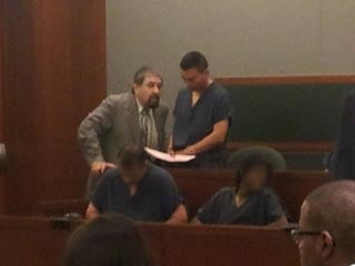 Vazquez stands with counsel in court Wednesday. (Peter Dawson/FOX5)