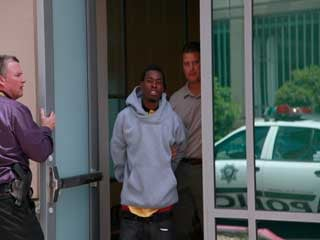 Bryan Clay in police custody (Courtesy: LVMPD)