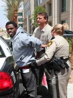 Bryan Clay, 22, is taken into custody. (Courtesy: LVMPD)
