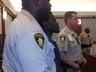Bryan Clay appears before a courtroom Wednesday. (Armando Navarro/FOX5)