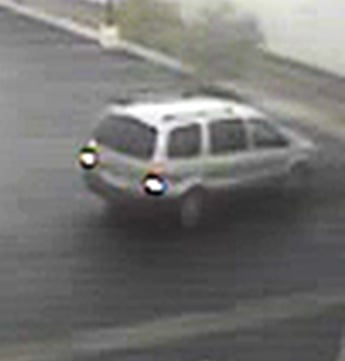Police believe the vehicle is a Saturn Relay. (LVMPD)