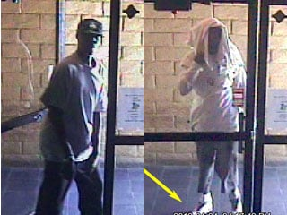 Police are searching for two bandits who held up an east Las Vegas bar in April. (LVMPD)