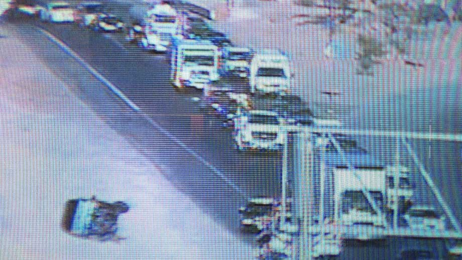 FAST Cam capture of the rollover accident near downtown Las Vegas.