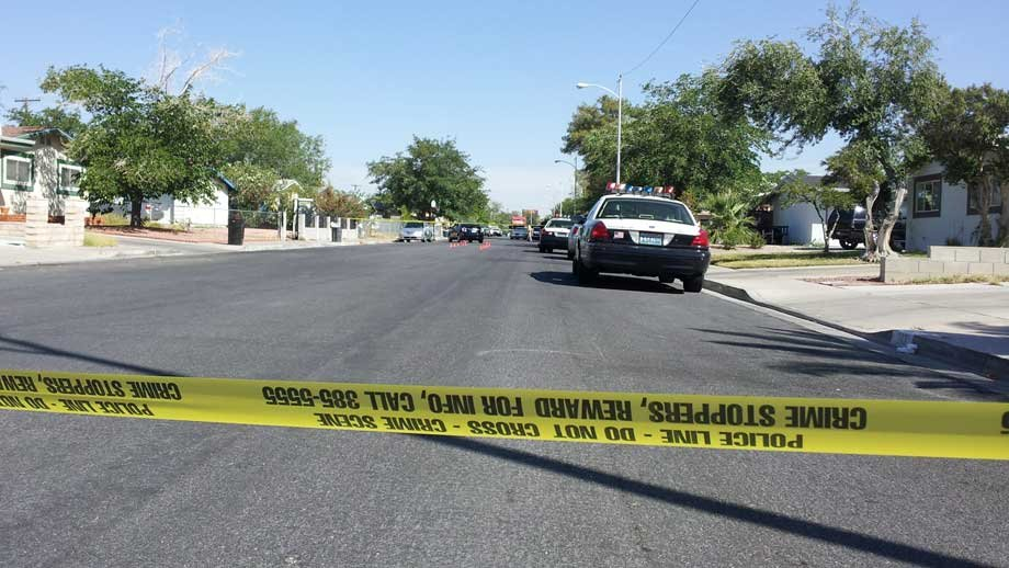 Police tape off a section of View Drive after a deadly shooting Friday. (Joe Lybarger/FOX5)