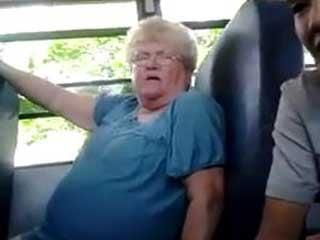 Karen Klein is bullied by students on a school bus.