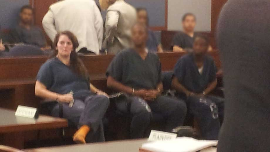 Amber Hall appears in court. (Peter Dawson/FOX5)