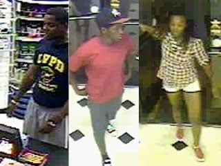 Three of the four people suspected in a rash of clerk beatings. (LVMPD)
