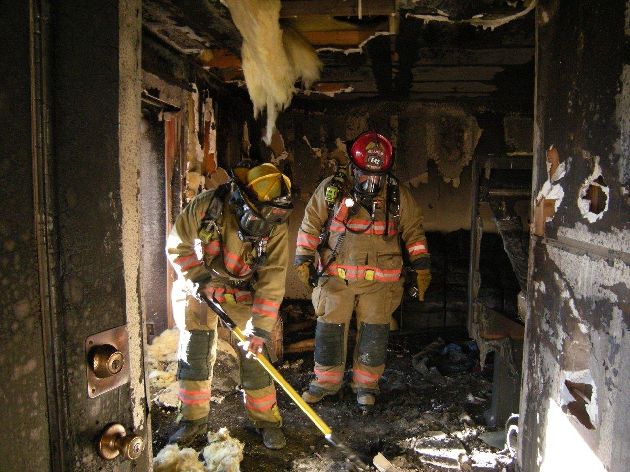 Fire destroyed the living room (Courtesy of Las Vegas Fire & Rescue)