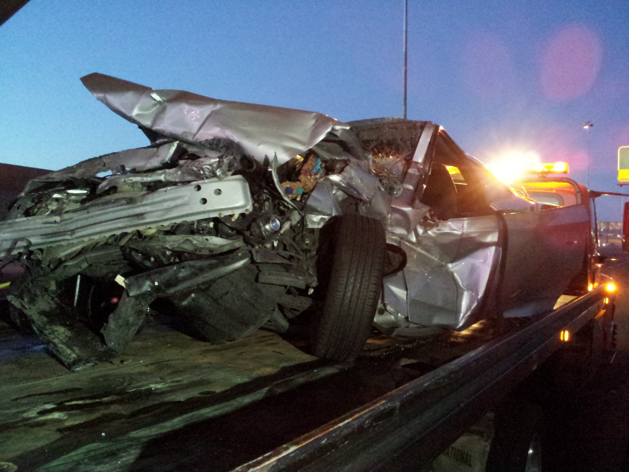 Toyota Celica was traveling at a high rate of speed before the accident (Arron Healy/FOX5)