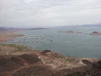 A dreary but still busy 4th of July at Lake Mead. (Matt DeLucia/FOX5)