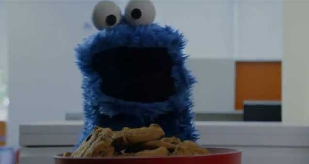 "Cookie Monster stars in a music video spoofing Carly Rae Jepsen's ""Call Me Maybe."" (SesameStreet.org/YouTube)"
