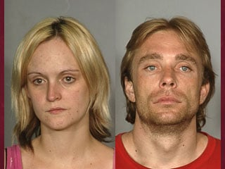 Monique Bork (left) and Edward Thompson (right) were arrested for the death of Bork's son. (LVMPD)