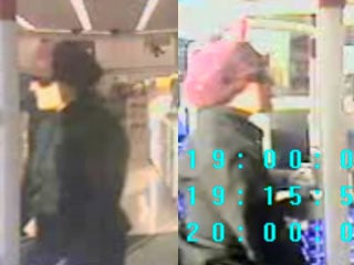 Security video images show a woman suspected of robbing a pharmacy. (NLVPD)