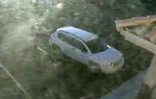 Police believe the woman got away in a white Jeep Compass. (NLVPD)