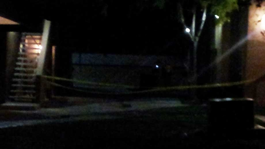 Crime tape cordons off an area where a shooting happened early Thursday. (Dave Lawrence/FOX5)
