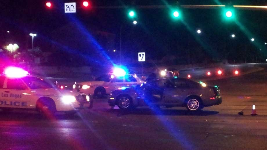 Police shut down the intersection of Ann and Decatur after a late night accident. (Armando Navarro/FOX5)