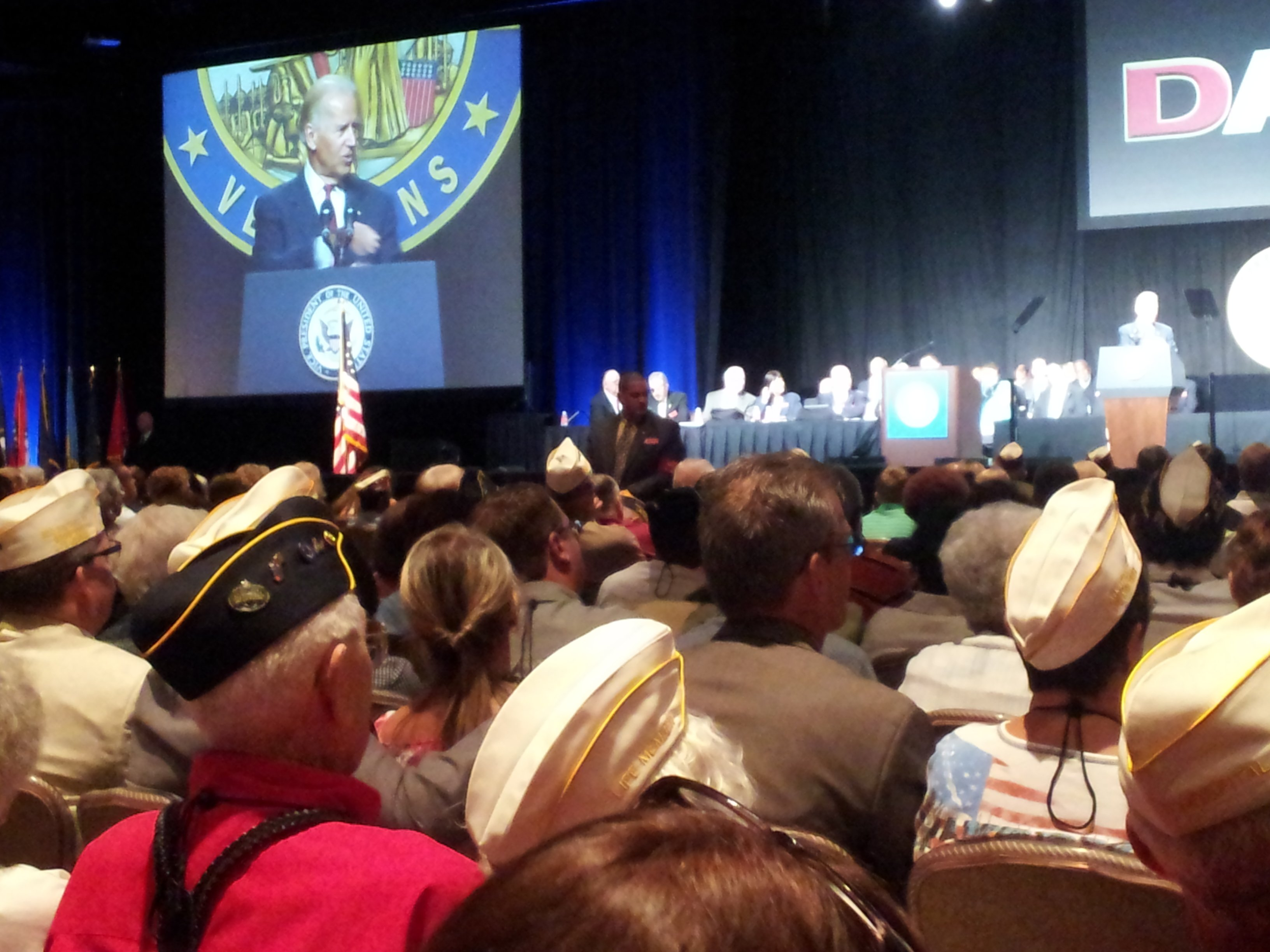 Vice President Joe Biden praised the sacrifices military members have made (Christian Cazares/FOX5)