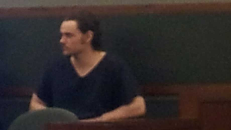 Kevin Taylor sat in a Clark County court room for his sentencing Tuesday. (Peter Dawson/FOX5)