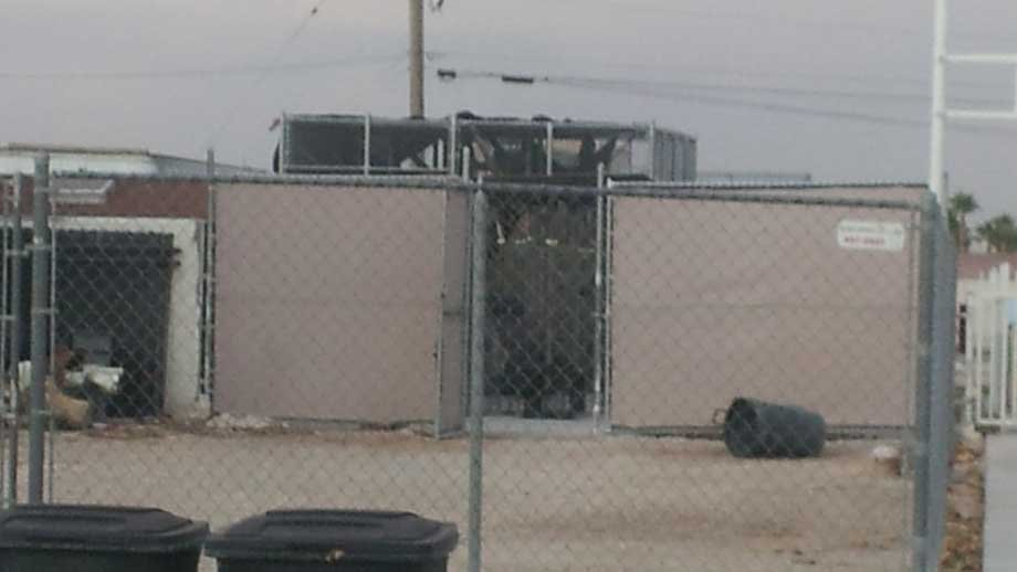 Cage from where CJ escaped (Doug Johnson/FOX5)