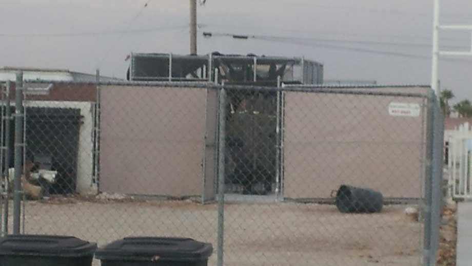 Cage from where CJ escaped (Doug Johnson/FOX5)