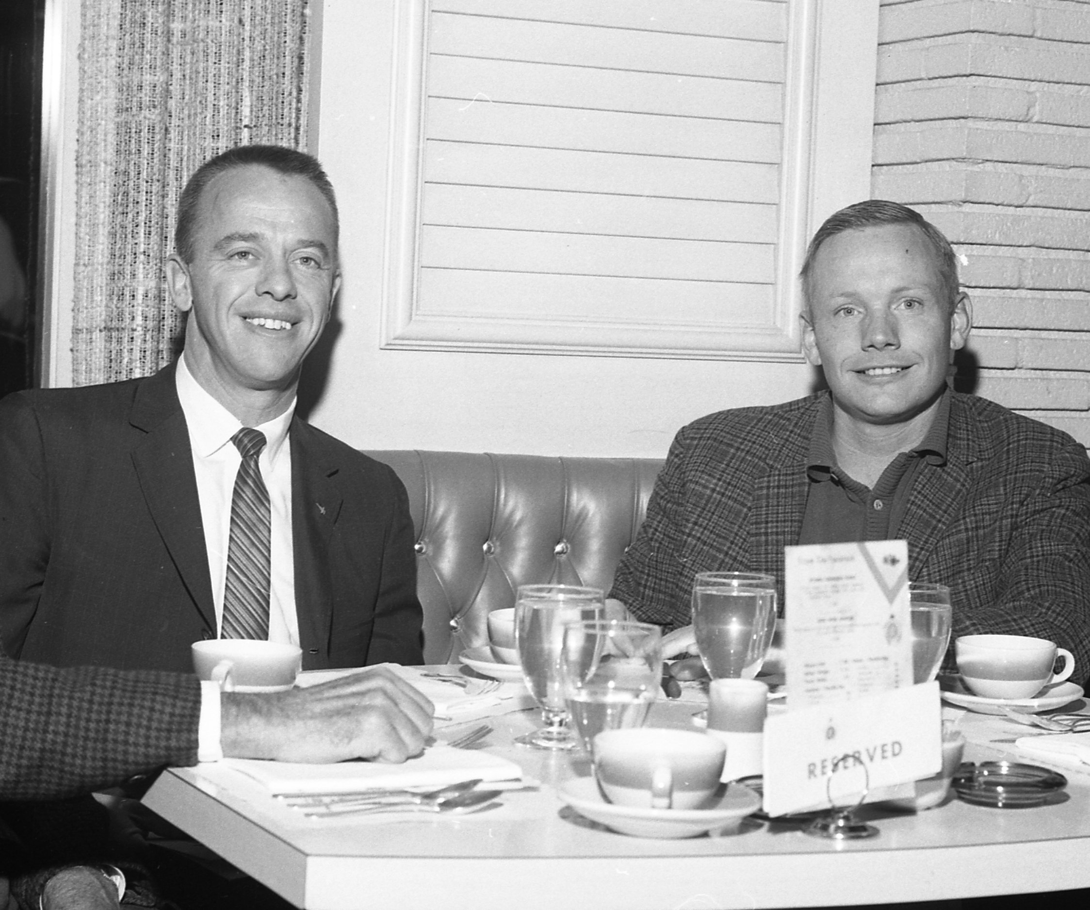 Neil Armstrong and Alan Shepard at the Riviera Hotel in Las Vegas in 1964 (Las Vegas News Bureau Archives)