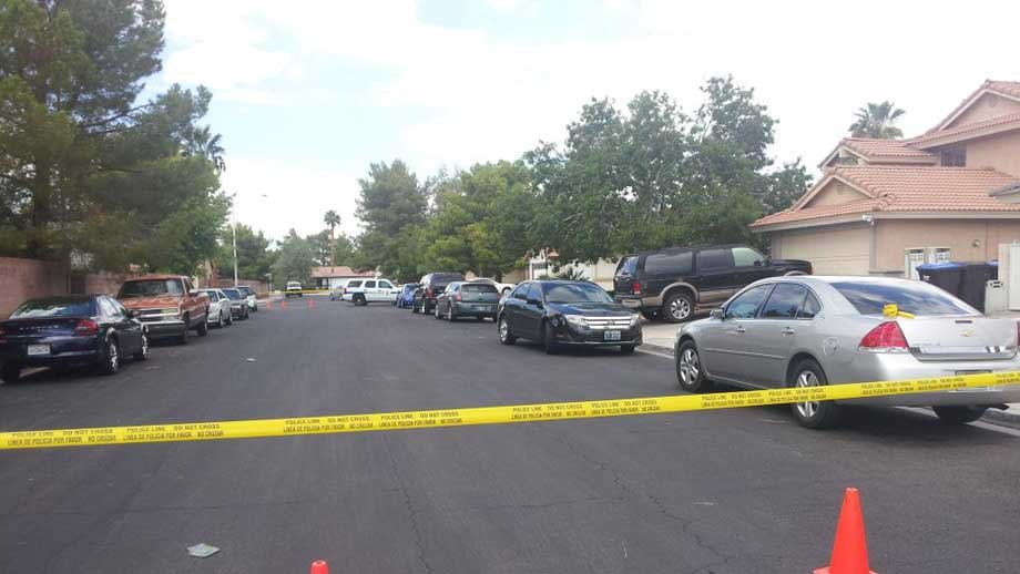 Police tape off a neighborhood where a teen was believed to have been abducted. (Matt Delucia/FOX5)