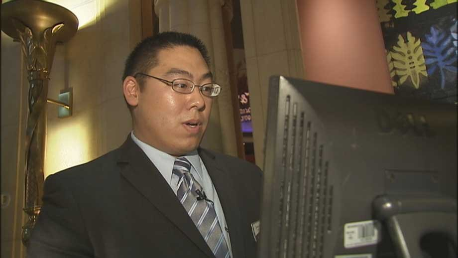 Former Navy linguist Jonathan Wei is on his way to a job with the company.