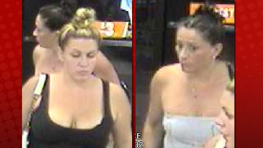 Authorities were seeking two women as persons of interest in car break-in at Freedom Park. (City of Las Vegas)