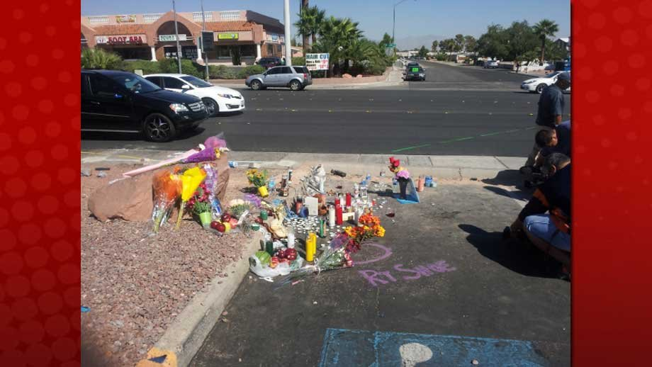 A memorial was made almost immediately after the bus stop incident, which killed four people. (Les Krifaton/FOX5)
