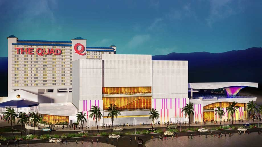 A composite rendering shows future renovations for The Quad. (Caesars Entertainment)
