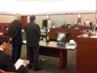 Schubert stands during his sentencing in court. (Peter Dawson/FOX5)