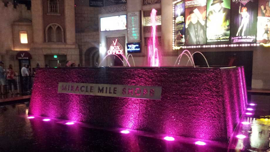 Money collected from the Miracle Mile Shops fountain in October goes to Susan G. Komen for the Cure.  (Jason Valle/FOX5)