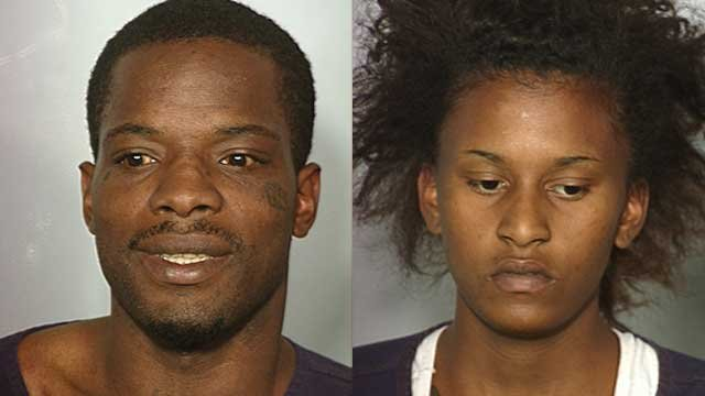 Derrick Beasley aka Tracy Davis (left), Diamond Bevans (right)-- Photos from LVMPD