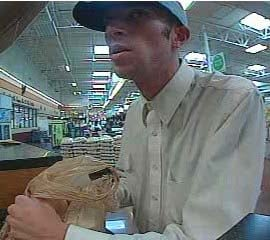 Surveillance still from the robbery on Thursday, Oct. 4. (LVMPD)