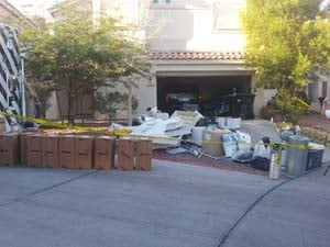 The marijuana grow house police busted near  Durango and U.S. 95. (Matt DeLucia/FOX5)