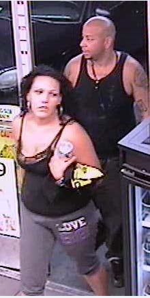 A surveillance still of the robbery suspects. (LVMPD)